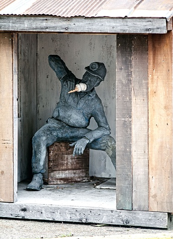 outdoor ceramic sculpture figurative by tom gothers