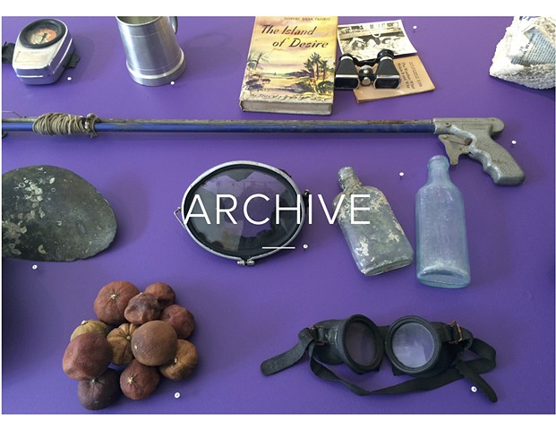 The archive is comprised of objects contributed by artists and divers. Each object was once submerged.