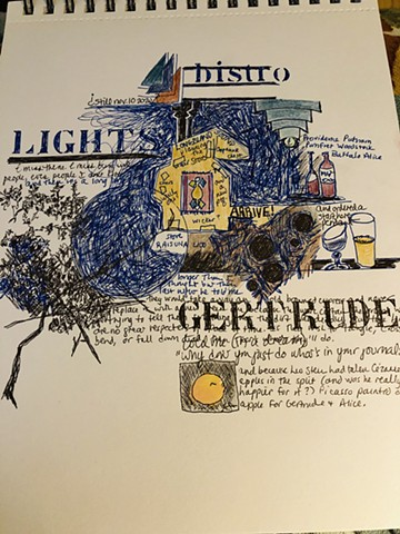 GERTRUDE and bistro light in,letters