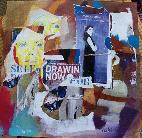 my self-portraits, a self portrait of a standing woman, Drawing Now