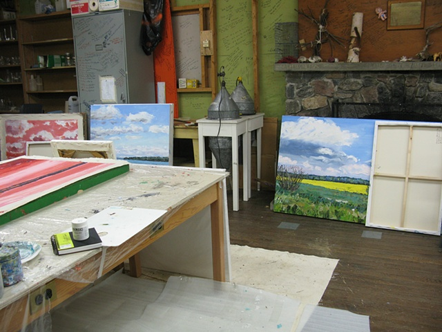 Studio space at an Emma Lake workshop
