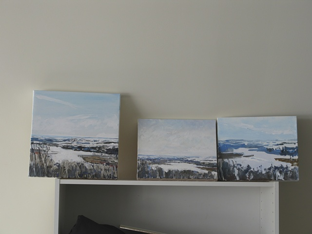 Small paintings of the North Saskatchewan