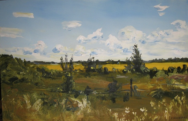 Acrylic Landscape on Canvas, Saskatchewan, Canada
