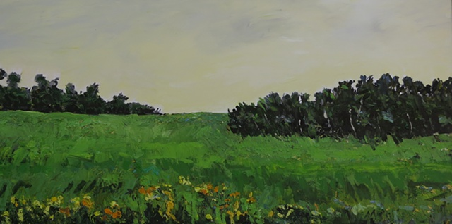 painting of a Saskatchewan field