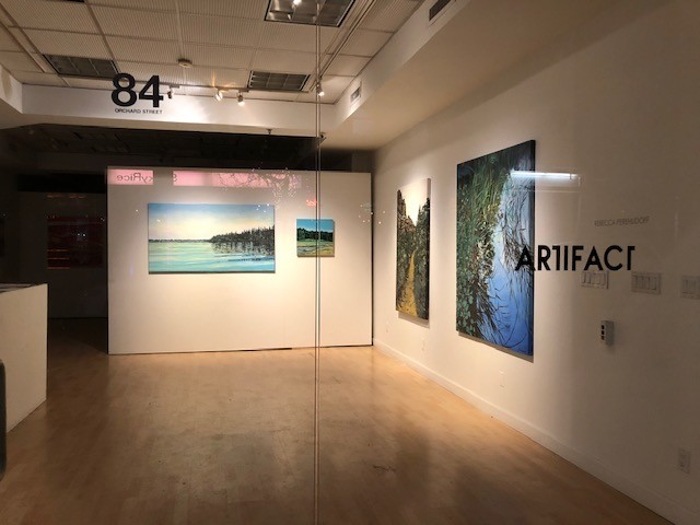 Wonderful to have had the privilege of showing at Artifact Gallery, NY