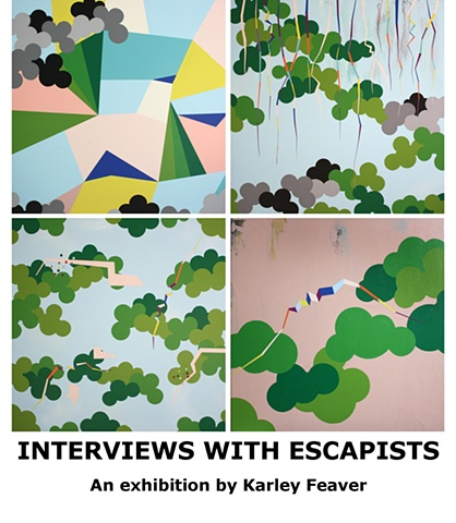Painting of escapism by Karley Feaver