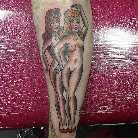 Sailor Jerry pinup girls tattoo