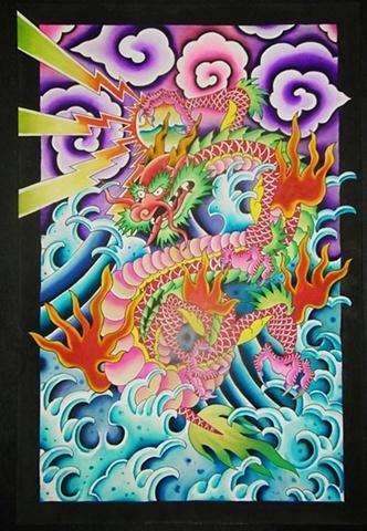 24x36 dragon painting