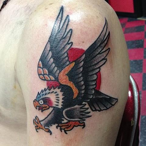 Ed Hardy eagle tattoo