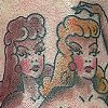 Sailor Jerry pinup girls tattoo