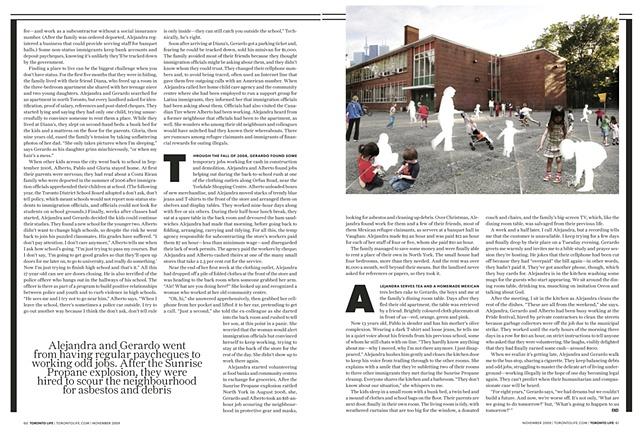 """Underground Economy"", by Carolyn Morris Toronto Life"