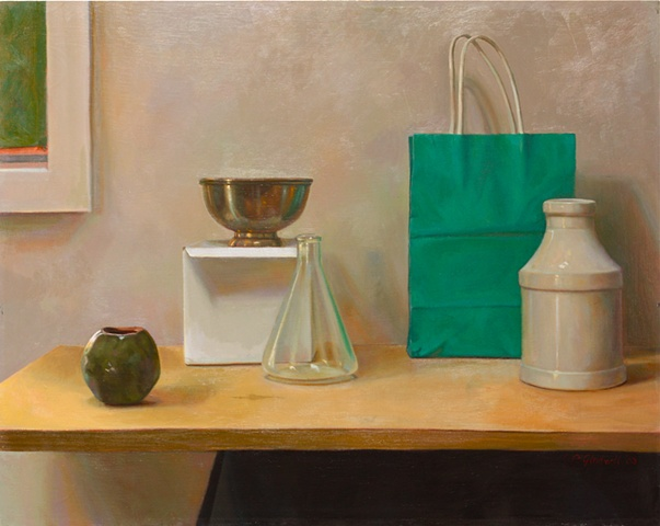 "Still Life with Bag. Oil, 18""x24"""