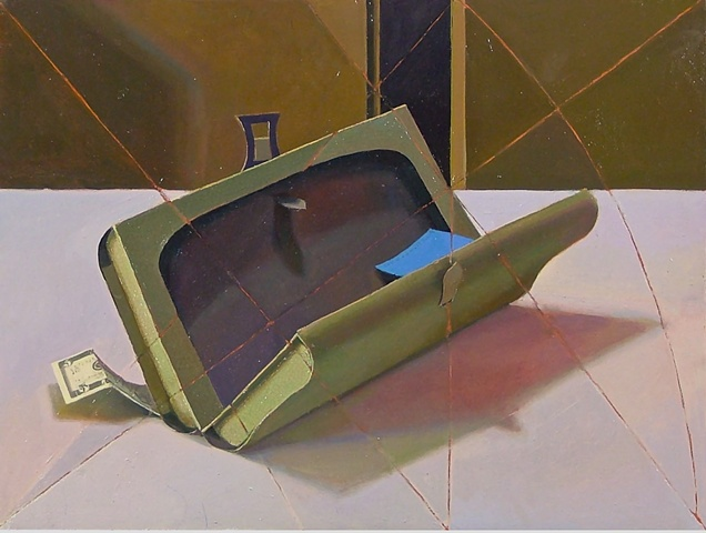 """Construted Purse. Oil on panel, 12""""x16"""""""