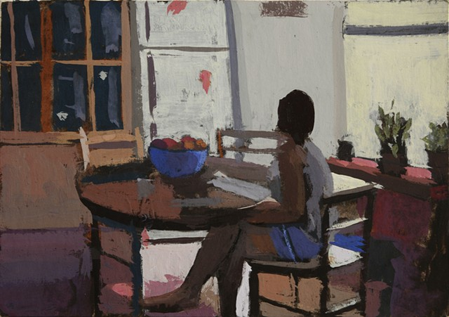 intimate painting of my daughter, Vermeer, Wm Barnett, Vuillard