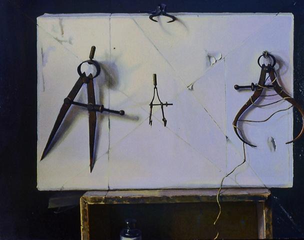 "Instruments. Oil, 18""x24"""