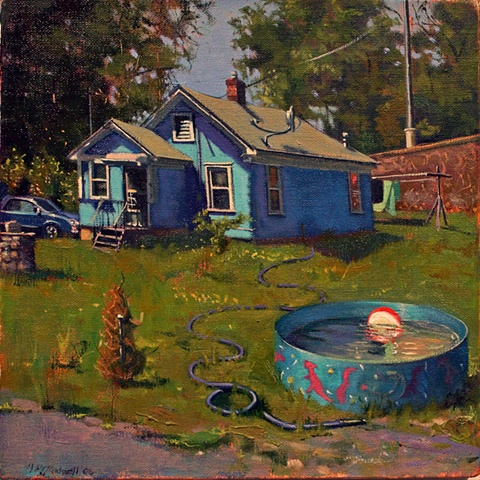 """The Crossing Gard's House. 2009.  Oil, 12""""x12"""""""
