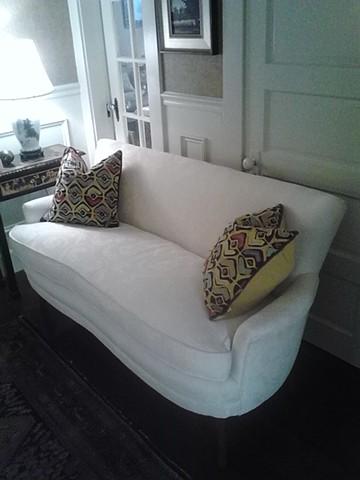 White settee