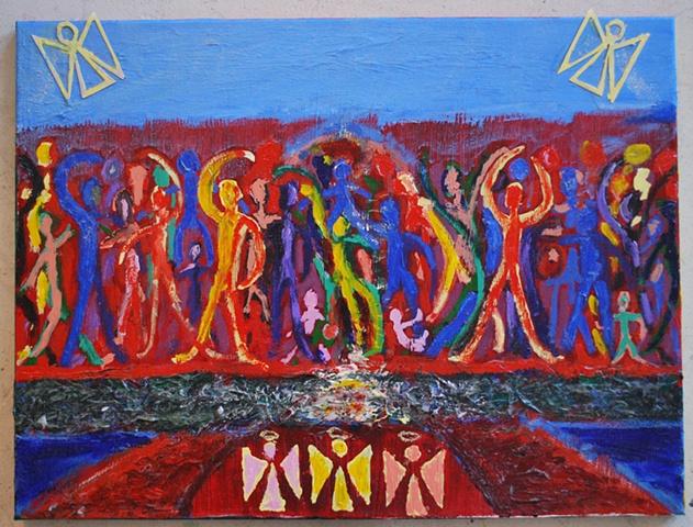 Exodus angels passover haggadah