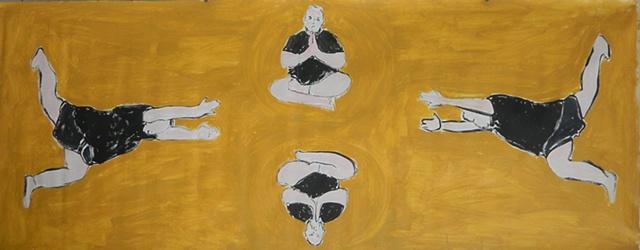 yoga warrior buddah