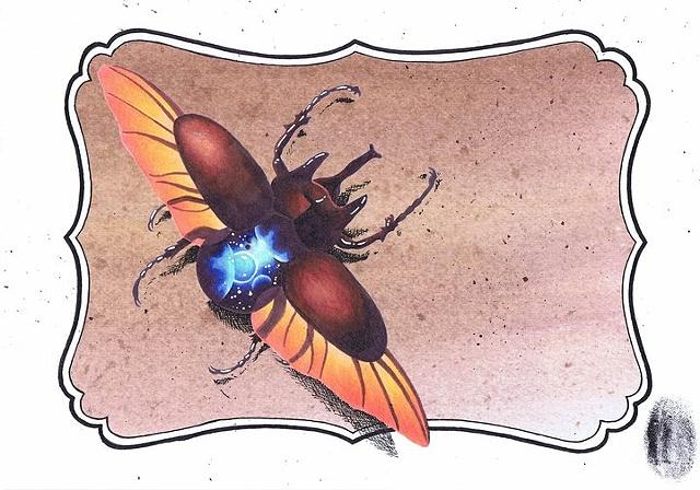 Space Beetle by Kitty Dearest.