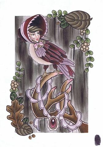 Bird Folk - Lady by Kitty Dearest.