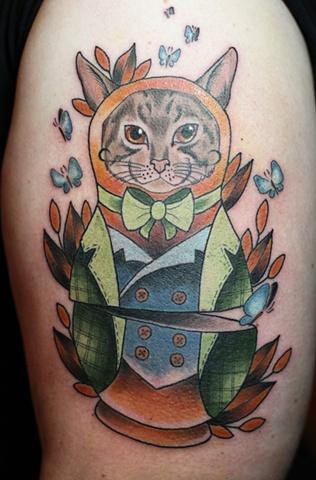 Cat Babushka Doll by Kitty Dearest
