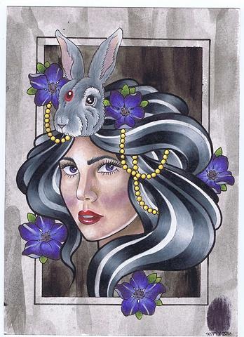 Rabbit Lady by Kitty Dearest.