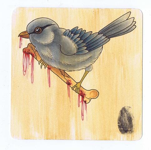 Bird Drinks Coaster by Kitty Dearest.