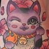 Left Lucky Cat by Kitty Dearest