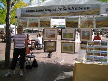 My booth at the Boise Saturday morning market