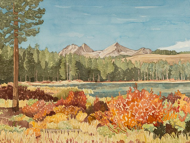 Little Redfish Lake and Sawtooth Mountains