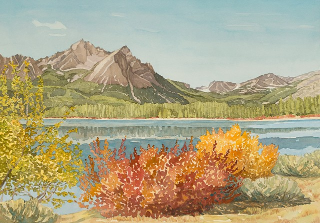 Alturas Lake and Sawtooth Mountains