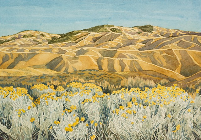 Boise Foothills and Rabbit Brush