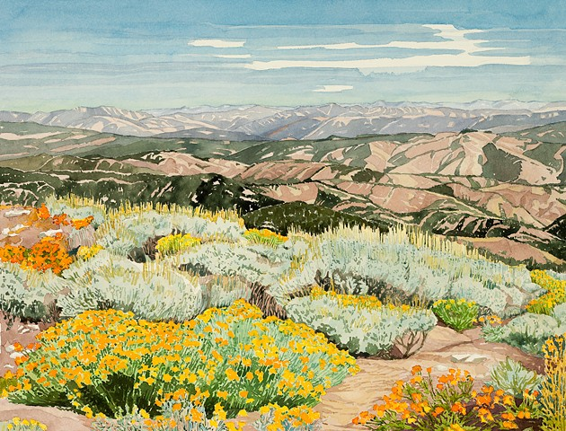Idaho Landscapes By Sandra Shaw Shafer Butte View East