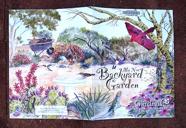 sue betanzos, book, garden, spanish, wildlife, grandmother, family, plants, hummingbirds