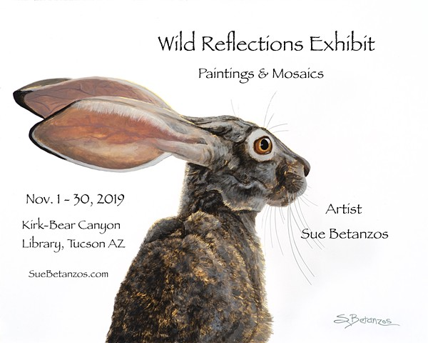 hares, wildlife art, Sue Betanzos, animal art, hare art, reverse glass painting, back painted glass, glass painting, fine art