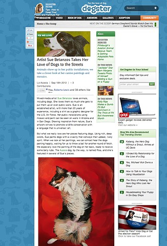 sue betanzos, aussie, pet portrait, dog, dog publication, acrylic, dreaming, australian shepherd, green. tri color aussie
