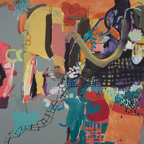 Mirana Zuger Abstract oil on canvas 2009 Abstraction Wild Painting