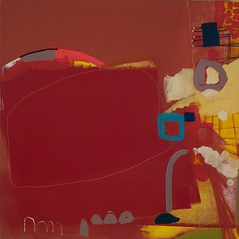 "mirana Zuger Abstract oil on canvas 2008 Abstraction Mississippi Delta Blues 36"" x 36"" Painting 24"" x 24"""