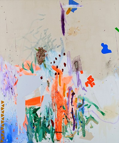 Treasure Island, Mirana Zuger, Abstraction, Oil on canvas, New York City