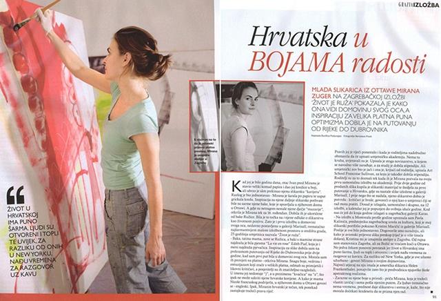 Grazia Magazine, Hrvatska u Bojama radosti by Durdica Podunajec, pp.90-91, Zagreb, Croatia
