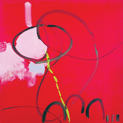 Vie En Rose oil on canvas Mirana Zuger Painting Abstract Abstraction 2007