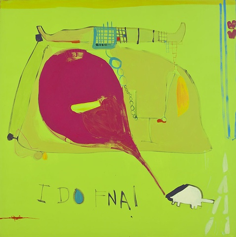 I Do FNA! Painting Abstraction oil on canvas 2008 Mirana Zuger