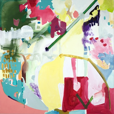 "Mirana Zuger Abstract oil on canvas 2008 Abstraction Route 48"" x 48"" Painting"