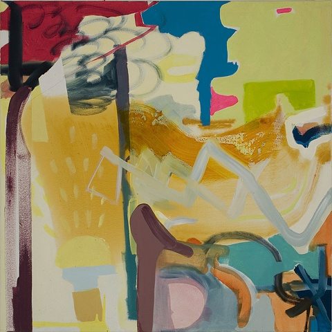 Mirana Zuger Abstract oil on canvas 2008 Abstraction This Must Be The Place III Painting