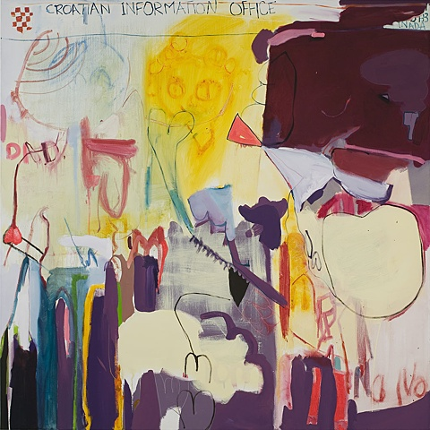 Family Portrait A oil on canvas Mirana Zuger Painting Abstract Abstraction 2009 Croatian Information Centre