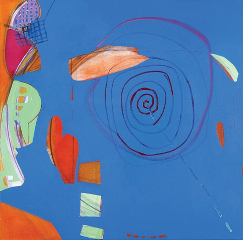 Homage to Cynthia Girard Mirana Zuger Abstract Painting Abstraction Target 2007 Kufner Collection