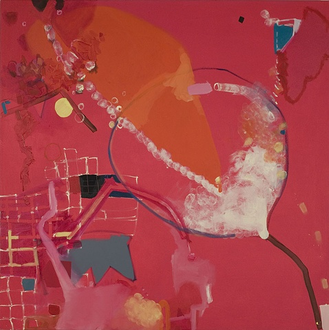 "Mirana Zuger Abstract oil on canvas 2008 Abstraction Opera Painting 48"" x 48"""