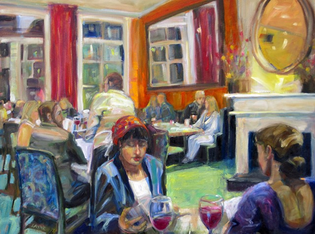 restaurant, diners, colorful