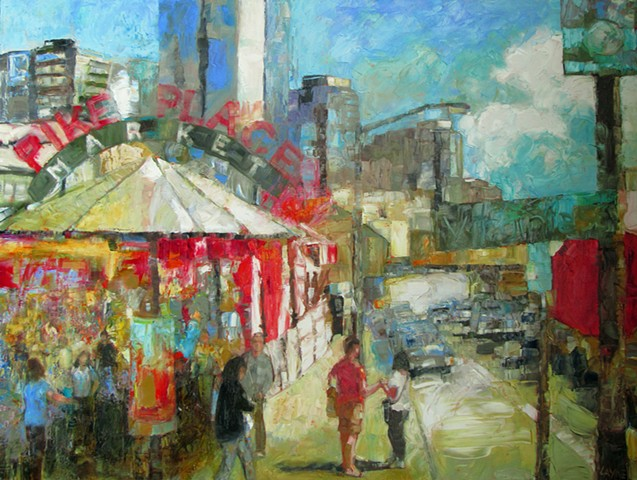 Lively Market Day (SOLD)